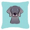 Caroline's Treasures Checkerboard Weimaraner Indoor/Outdoor Throw Pillow