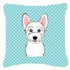 Caroline's Treasures Checkerboard Westie Indoor/Outdoor Throw Pillow