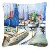 Caroline's Treasures Day Break Sailboats Indoor/Outdoor Throw Pillow