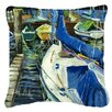 Caroline's Treasures Sailboats Indoor/Outdoor Throw Pillow