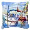 Caroline's Treasures Towering Q Sailboats Indoor/Outdoor Throw Pillow