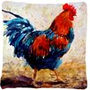 Caroline's Treasures Rooster Indoor/Outdoor Throw Pillow