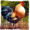 Caroline's Treasures Rooster Indoor/Outdoor Throw Pillow