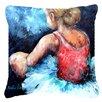 Caroline's Treasures Ballet Star Struck Indoor/Outdoor Throw Pillow