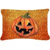 Caroline's Treasures October Pumpkin Halloween Indoor/Outdoor Throw Pillow