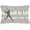 Caroline's Treasures Baseball Is Life Indoor/Outdoor Throw Pillow