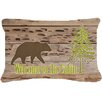 Caroline's Treasures Welcome To The Cabin Indoor/Outdoor Throw Pillow