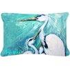 Caroline's Treasures Mother's Love White Crane Indoor/Outdoor Throw Pillow