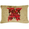 Caroline's Treasures Hex Marks The Spot Halloween Indoor/Outdoor Throw Pillow