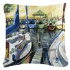 Caroline's Treasures Seven Boats Sailboats Indoor/Outdoor Throw Pillow