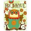 Caroline's Treasures Be Joyful Owl Glass Cutting Board