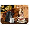 Caroline's Treasures English Bulldog Morning Coffee Glass Cutting Board