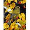 Caroline's Treasures European Greenfinch 2-Sided Garden Flag