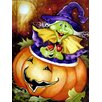 Caroline's Treasures Bewitched and Glowing Halloween 2-Sided Garden Flag