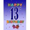 Caroline's Treasures Happy 13th Birthday 2-Sided Garden Flag