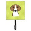 Caroline's Treasures Checkerboard Beagle Leash Holder and Wall Hook