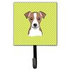 Caroline's Treasures Checkerboard Jack Russell Terrier Leash Holder and Wall Hook