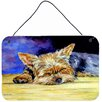 Caroline's Treasures Yorkie Taking a Nap by Lyn Cook Painting Print Plaque
