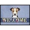 Caroline's Treasures Jack Russell Terrier Welcome Mat