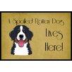 Caroline's Treasures Bernese Mountain Dog Spoiled Dog Lives Here Mat