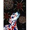 Caroline's Treasures For our Heros Fireworks Patriotic Dalmatian 2-Sided Garden Flag