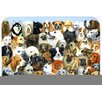 Caroline's Treasures Fifty One Dogs Glass Cutting Board