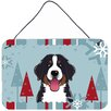 Caroline's Treasures Winter Holiday Bernese Mountain Dog by Denny Knight Graphic Art Plaque