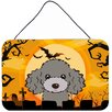 Caroline's Treasures Halloween Poodle by Denny Knight Painting Print in Gray