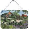 Caroline's Treasures Pleasant Valley Sheep Farm by Tom Wood Painting Print Plaque