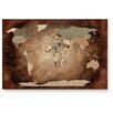 LanaKK Wandbild Worldmap Intensive, Fotodruck
