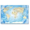 LanaKK Worldmap Frozen Photographic Print