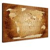LanaKK World Map Graphic Art on Canvas