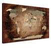 LanaKK Leinwandbild World Map with Cork Back, Grafikdruck