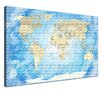 LanaKK World Map Graphic Art on Canvas Set