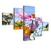 LanaKK Field Flowers 5 Piece Photographic Print on Canvas Set