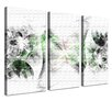 LanaKK Stars 3 Piece Graphic Art on Canvas Set