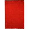 Rugnur Bella Maxy Home Single Solid Red Shag Area Rug