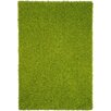 Rugnur Bella Maxy Home Single Solid Green Shag Area Rug