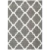 Rugnur Bella Maxy Home Moroccan Trellis Contemporary Gray/White Shag Area Rug