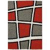 Rugnur Bella Maxy Home Geometric Tile Design Contemporary White/Grey Shag Area Rug