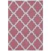 Rugnur Bella Maxy Home Moroccan Trellis Contemporary Pink/Ivory Shag Area Rug