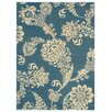 Rugnur Lush Maxy Home 1-Million-Point Floral Paisley Contemporary Turquoise Blue/Ivory Area Rug