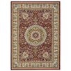 Rugnur Lush Maxy Home 1-Million-Point Persian Medallion Traditional Red/Ivory Area Rug
