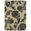 Rugnur Lush Maxy Home 1-Million-Point Floral Paisley Contemporary Ivory/Black Area Rug