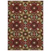 Rugnur Lush Maxy Home 1-Million-Point Floral Medallion Allover Panel Contemporary Red Area Rug