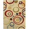 Rugnur Pasha Maxy Home Circles Ivory Contemporary Area Rug
