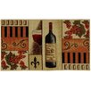 Rugnur Cucina French Wine Glass Cream/Orange Kitchen Area Rug