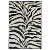 Rugnur Hammam Maxy Home Zebra Black/Snow White Area Rug