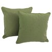 Darby Home Co Serche Solid Cotton Throw Pillow (Set of 2)