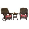 Darby Home Co Fleischmann 3 Piece Rocker Seating Group with Cushions